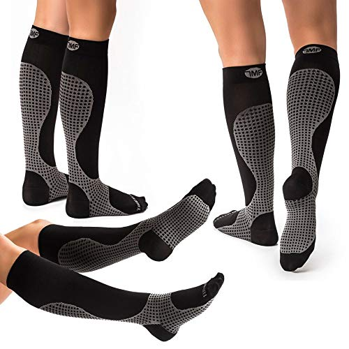 3 Pack XL Compression Socks for Men & Women, Soft & Comfortable Knee High Pressure Socks for Men & Women - Boosts Circulation & Reduces Edema Swelling, 15-20 mmHG Anti-Embolism Stockings and DVT Socks
