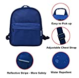 adcb2b442b BIGHAS Lightweight Mini Kids Backpack with Chest Strap For Preschool  Kindergarten Boys and Girls 3-6 Years Old (Navy)