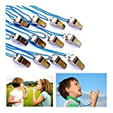 Metal Kid Whistles - Pack of 12 Sport Referee Whistle Party Favors