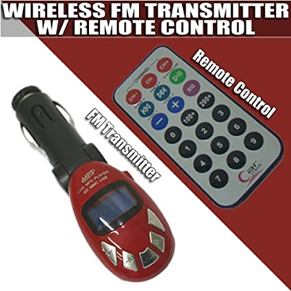 iMOBILE MP3 RED Car MP3 Player/FM Transmitter SD/USB Remote (Red