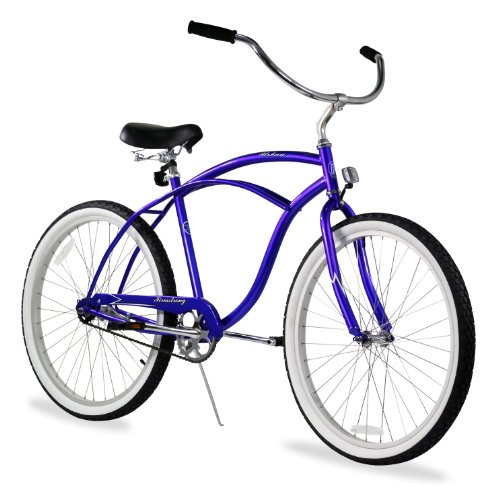 - Firmstrong Urban Man Single Speed Beach Cruiser Bicycle, 26-Inch, Royal Blue