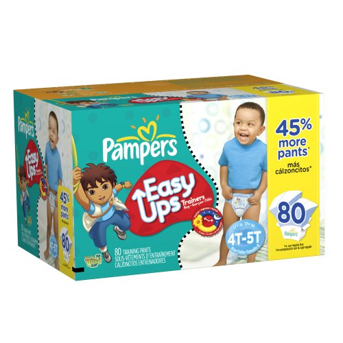 Pampers Easy Ups Trainers for Boys Value Pack, 80 Count , Size 6 - Trainers Boys Value