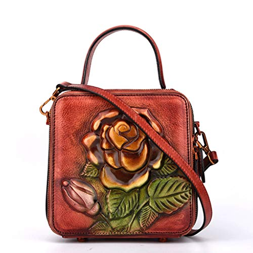 Portátil Retro 6 S 4 Leather Tamaño color Square Small Mensajero De Ladies Bag Bolsa 8Oq8xrf