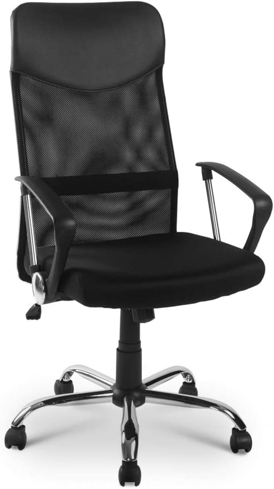 Office Mesh Chair Adjustable Executive Swivel Computer PC Desk Seat Fabric Back
