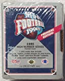 1991 NFL Upper Deck Hi-number Factory Football Set - Football Rookie Cards - Sports Collectibles