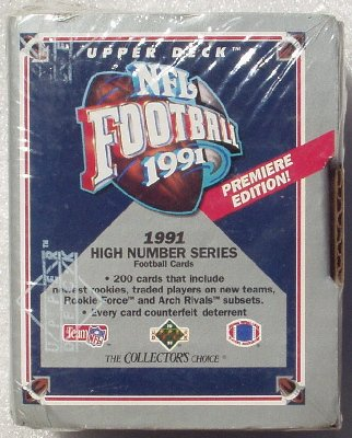 1991 NFL Upper Deck Hi-number Factory Football Set - Collectible Sports Cards