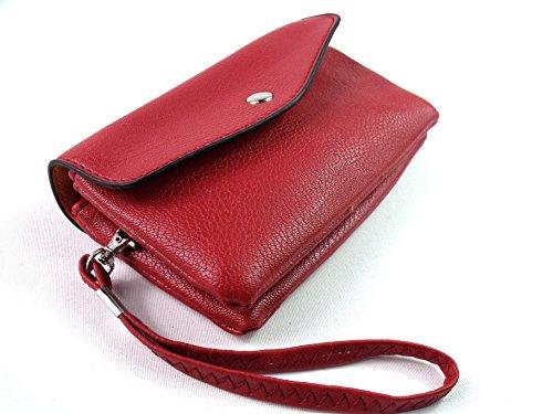 Rojo Nuevo Crédito Monedero Tarjetas Para La Bag Mujer Chica De Mano Bolso Correa Pequeño Muñeca Funda wBZrHw