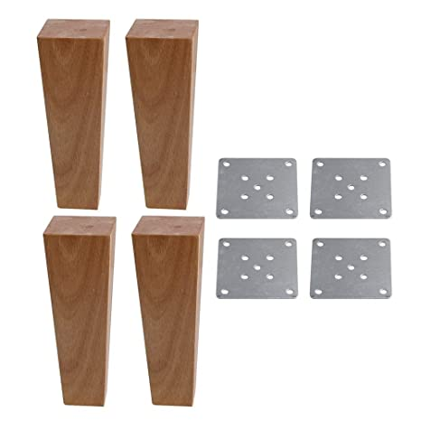 Amazon.com: Patas de madera de roble para muebles, sofá o ...
