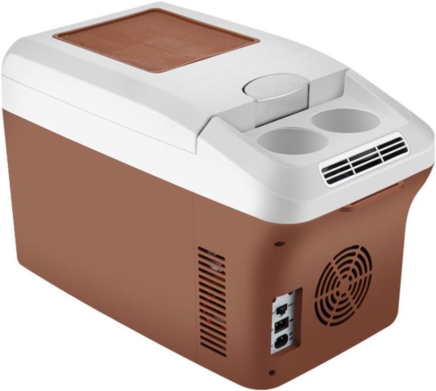 SL&BX Refrigerador del coche 24v,Camión grande nevera 12v coche coche mini doble calentamiento caja mini nevera portátil para el hogar,Oficina,Coche o barco -marrón 27.6x18.5x23.2cm(11x7x9inch)
