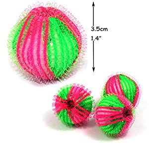 Pet Hair Remover for Laundry - Non-Toxic Reusable Dryer Balls Washer and Dryer Ball Remove Long Hair from Dogs and Cats on Clothes in The Washing Machine 12 Packs (Color: 12pcs)