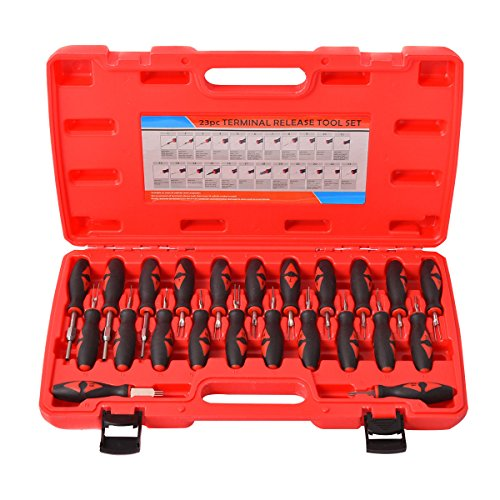 Goplus 23PCS Universal Terminal Release Tool Kit Set Connector Remover w/ Carry Case