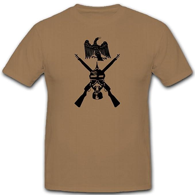 Prusia ßischer Soldado Gas Máscara Rifle Águila WK WH Escudo nadadores Emblema – Camiseta # 3617