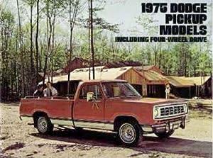 Amazon.com : 1975 75 DODGE PICKUP Truck BROCHURE W200 D300 D200 D100