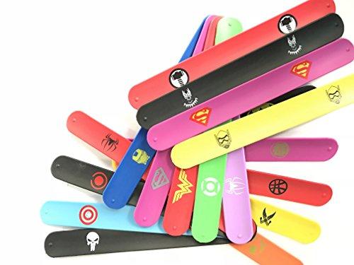Yuuzz Superhero Slap Bracelet for Kids Boys & Girls Birthday Party Supplies Favors (18 pack) by Yuuzz (Image #2)