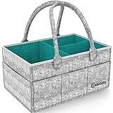 Best Baby Diaper Caddy Organizer - Nursery and Baby Organizer Basket | Portable and Foldable Diaper Organizer for Changing Table | Travel Car Caddy Nursery Storage Bin | Diaper Basket