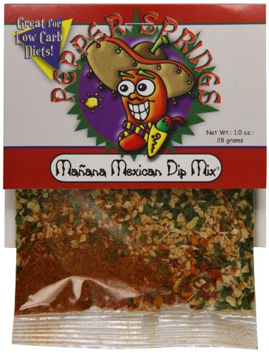 Mix Dip Pepper (Pepper Springs Manana Mexican Dip Mix, 1.0 Ounce)