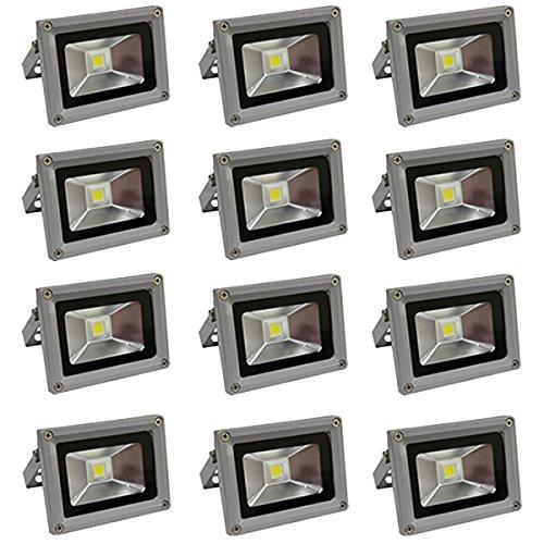 LED投光器 10W 電球色 (約3000K) 防水 12個セット B012YTNSC6 14000