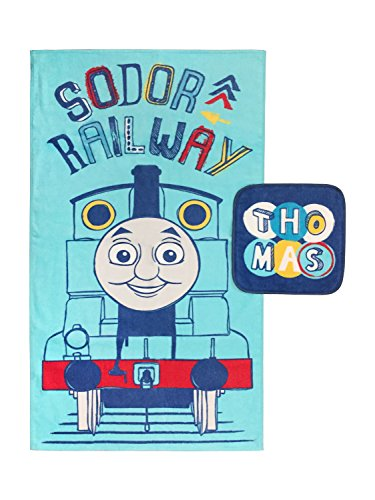 Jay Franco Thomas The Tank Engine Cotton 2 Piece Bath Towel & Washcloth Set