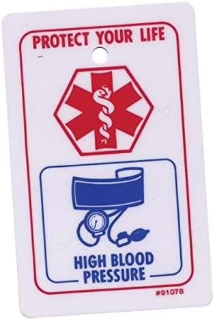 High Blood Pressure Emergency Medical Card