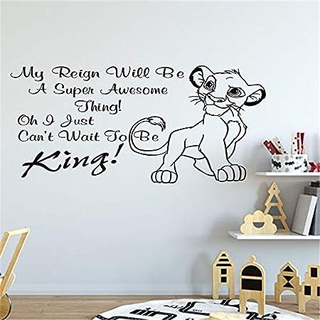 wangpdp Simba decoración del hogar Etiqueta de la Pared de Dibujos ...