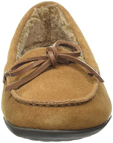 Pantofole Da Donna Vionic Ida In Castagna