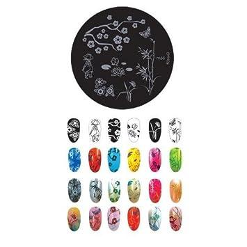 Amazon Konad Stamping Nail Art Image Plate M66 Nail Polish