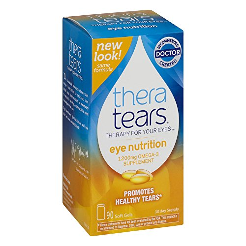 TheraTears Eye Nutrition Omega 3 Supplement, Great, Value Size 5 Pack ( 450 Capsules Total ) Thera-BY by Thera Tears