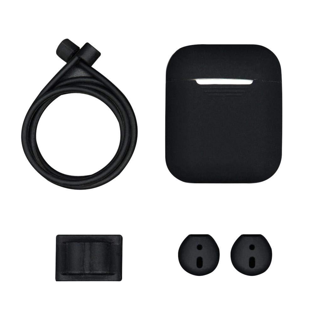 LANSKIRT 5 en 1 de Silicona Cubierta de la Caja del Auricular para Auriculares Airpods Auriculares Gancho de Accesorios: Amazon.es: Juguetes y juegos