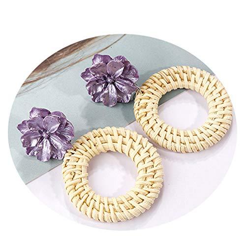 2 Color Simple Drop Earrings for Women Cute Bohemia Earrings Handmade Flowers Vintage Fashion Jewelry Accessories 2