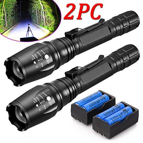 2X Led Flashlight 15000 Lumens 18650, T6, XML, Torch +Battery - Macy's San In Jose