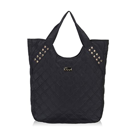 Amazon.com | Hynes Eagle Women Quilted Tote Bags (Black) | Travel ... : quilted travel tote - Adamdwight.com