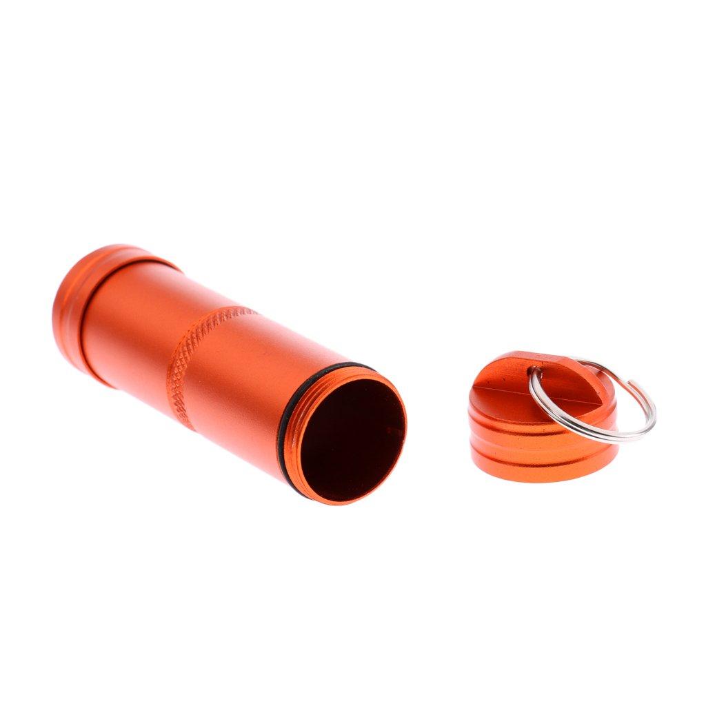 Gazechimp Impermeable Contenedor Caja de Píldora Sostenedor de Cápsula Multiusos para Deportes Aire Libre - naranja