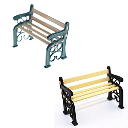 Swell Amazon Com Mini Bench Resin Crafts Modern Park Benches Camellatalisay Diy Chair Ideas Camellatalisaycom
