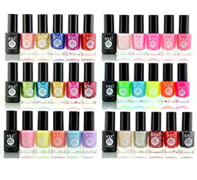 SXC Cosmetics 36 Color Gel Effect Nail Lacquer, No UV/LED Light Needed, Professional Quality & Quick Dry,14ml/0.47 Fluid Ounce Each, Perfect Gift for Holiday