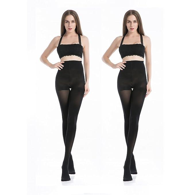 MANZI 1-6 Pairs 70 Denier Women/'s Tights Stretch Run Resistant Opaque Control To
