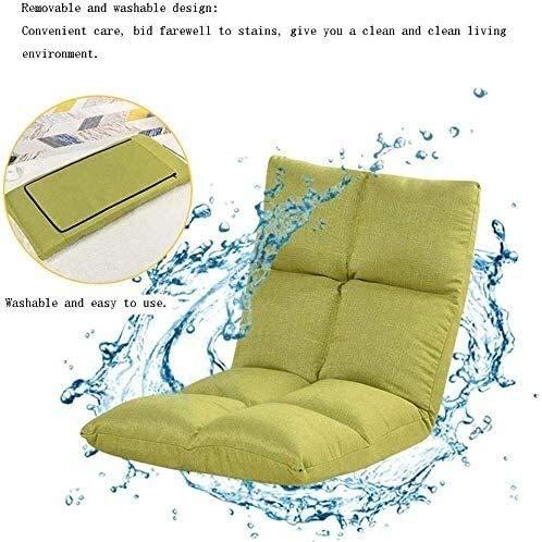 HLR Golvstol meditationsstol vikbar stol ryggstöd, säng bäddsoffa sovrum hopfällbar flicka trevlig balkong fåtölj ryggstöd lat soffa