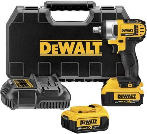 DEWALT DCF880M2 20-volt MAX Lithium Ion 1 2-Inch Impact Wrench Kit with Detent Pin