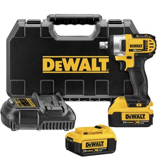DEWALT DCF880M2 20-volt MAX Lithium Ion 1/2-Inch Impact Wrench Kit with Detent -