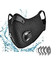Anti-Pollution Face Mask Reusable Anti-Dust Face Mask, Activated Carbon Filtration Exhaust Gas Biking Face Mask PM 2.5 Face Shields for going out,Replaceable Sports Mask With 4 Carbon Free Filters