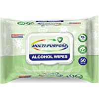 Germisept Multi-Purpose Alcohol Wipes, White, Aloe Vera, 1 kg, 50 Count, Pack of 24