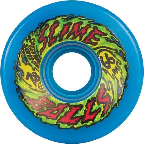 Santa Cruz Skateboards Slime Balls Neon Blue Skateboard Wheels   66Mm 78A  Set Of 4