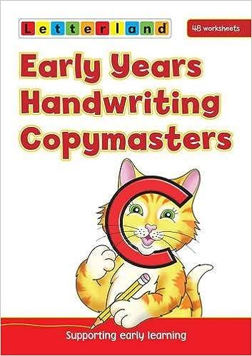 Early Years Handwriting Copymasters: 9781862092501: Amazon.com: Books