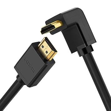 Cable HDMI de 5 metros, ángulo recto de 270 grados, cable HDMI de alta