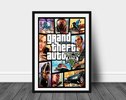 GTA Five Limited Poster Artwork - Professional Wall Art Merchandise (More (8x10)