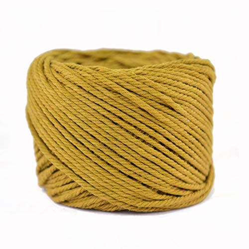 Handmade Decorations Natural Cotton Bohemia Macrame DIY Wall Hanging Plant Hanger Craft Making Knitting Cord Rope Natural Color Beige Macramé Cord (Khaki, 3mm x100m(About 109 yd))