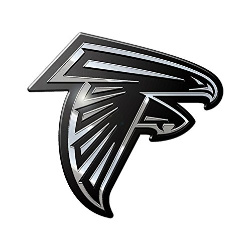 NFL Atlanta Falcons Premium Metal Auto Emblem Falcon Stickers