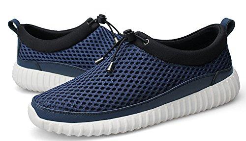 Hw-varor Mens Utomhussporter Mesh Slip-on Sneakers Andas Loafers Blå