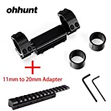 ohhunt High Profile Zero Recoil Mount,25.4mm 30mm Rifle Scope Rings, Fits Picatinny Weaver Rail with Stop Pin (Combo 6)