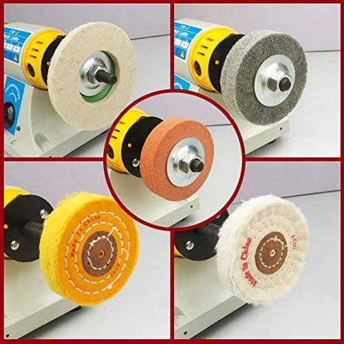Schmuck Poliermaschine,350W Schmuck Polierer Puffer,jade Polisher,Motor-Drehmaschine Schleifer Kit