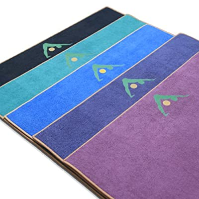 "Aurorae Yoga Mat / Towel, ""Synergy"" the Original Super Deluxe Slip Free Yoga Mat. Great for Hot Yoga, Vinyasa, Ashtanga, Bikrim. Bonds Our 5mm Per Yoga Mat with Our Lush Ultra Absorbent Slip Free Microfiber Towel. No More Slipping. US Patent Protected #1T"